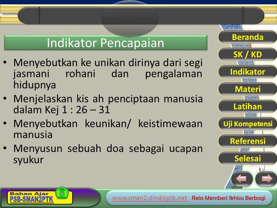 www.sman2.dindikptk.net www.sman2.dindikptk.net Rela Memberi Ikhlas Berbagi www.sman2.dindikptk.net www.sman2.dindikptk.net Rela Memberi Ikhlas Berbagi Beranda SK / KD Indikator Materi Latihan Uji Kompetensi Referensi Selesai MANUSIA MAMPU BERLOMBA