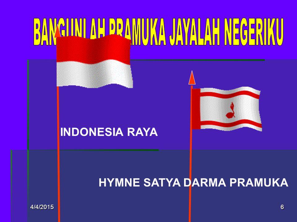 4/4/20155 PEMBUKAAN  Adicita Bangsa Indonesia (NKRI, bersatu, adil, makmur materiil, spirituil)  Kiasan Dasar SGT (20 Mei 1908; 28 Oktober 1928; 17