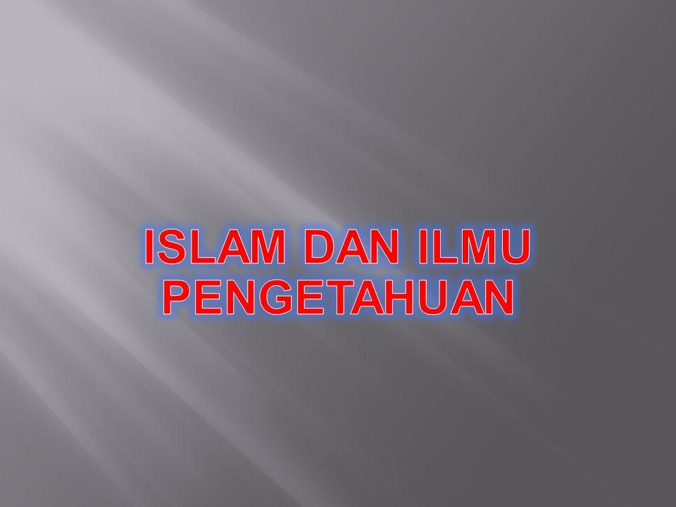 Pembagian menurut Al-Gazali ilmu keagamaan ( religius ) dan ilmu kecerdasan pikiran ( intelektual) fardu'ain dan fardu'kifayah.