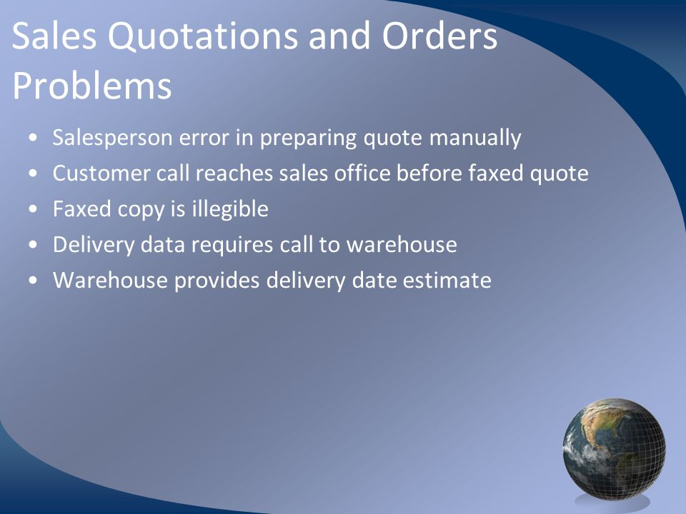M0254 Enterprise Resources Planning ©2004 Billing Sales order data copied to invoice Can be printed and mailed, faxed or transmitted electronically Accounting records updated