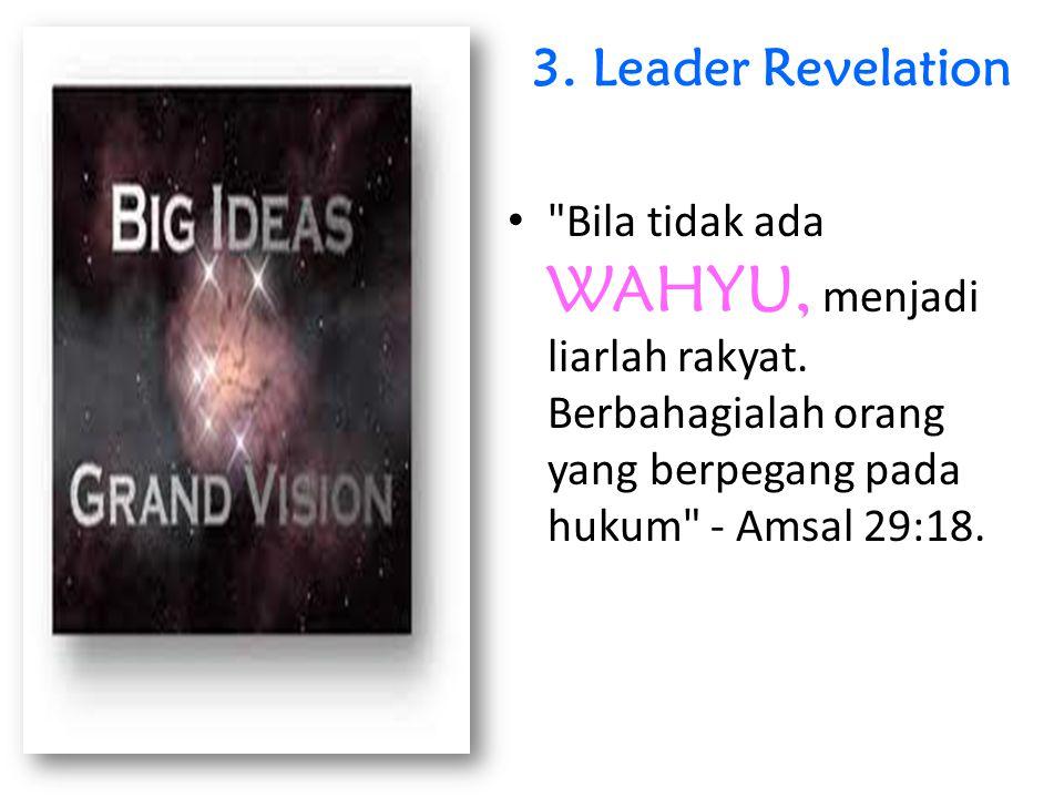 3.Leader Revelation Bila tidak ada WAHYU, menjadi liarlah rakyat.