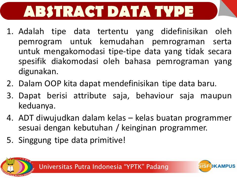 1.Adalah tipe data tertentu yang didefinisikan oleh pemrogram untuk kemudahan pemrograman serta untuk mengakomodasi tipe-tipe data yang tidak secara spesifik diakomodasi oleh bahasa pemrograman yang digunakan.