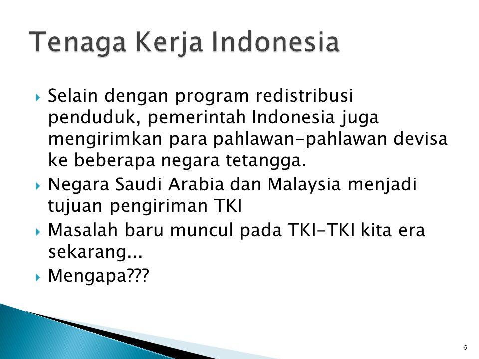  Kompleksitas permasalahan kependudukan pada Negara Indonesia.