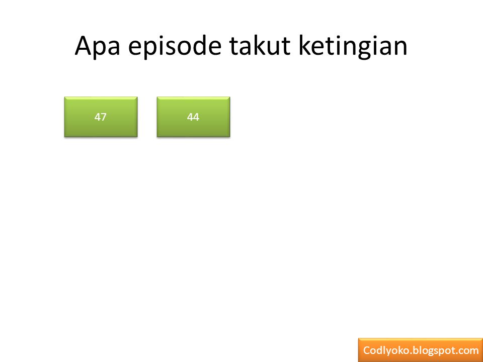 Apa episode takut ketingian 47 44 Codlyoko.blogspot.com