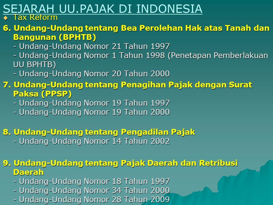 Tax Reform 3.Kronologis Urutan UU PPN setelah era Reformasi Perpajakan - Undang-Undang Nomor 8 Tahun 1983 - Undang-Undang Nomor 8 Tahun 1984 (Penetapa
