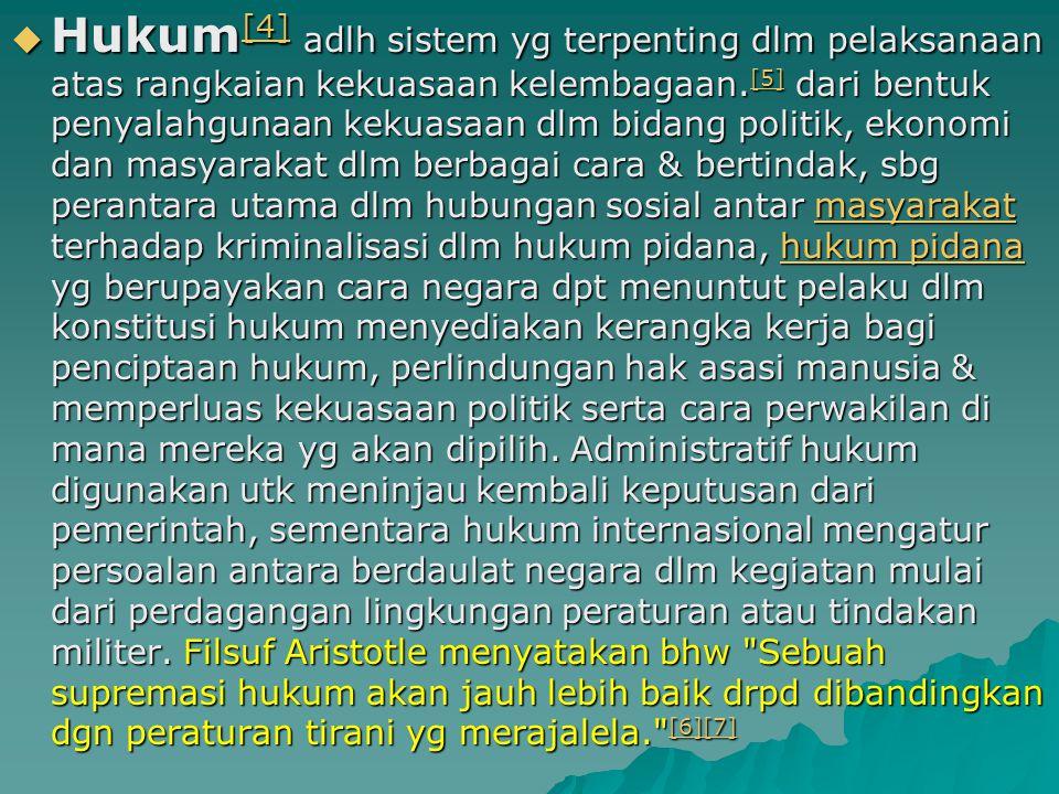 Pengertian Pengertian Hukum Hukum  Dari Wikipedia bahasa Indonesia, ensiklopedia bebas