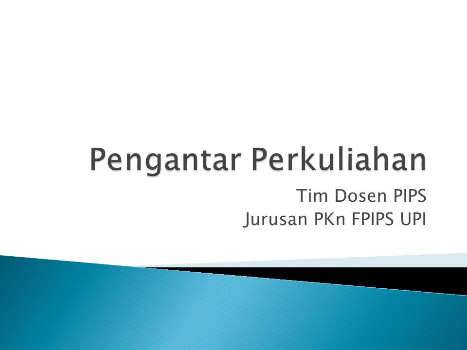 Tim Dosen PIPS Jurusan PKn FPIPS UPI