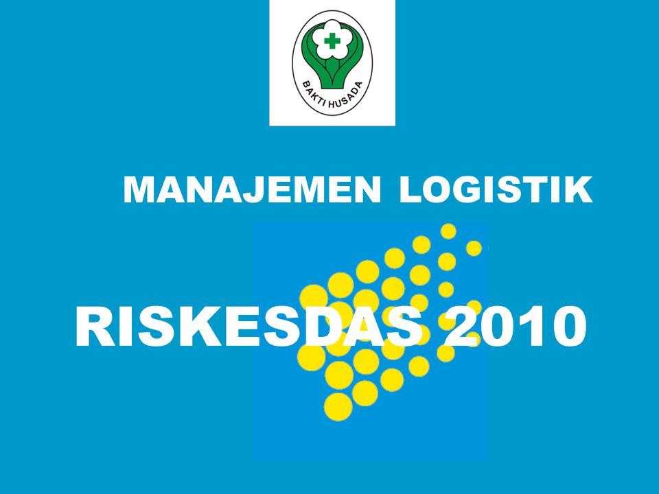 RISKESDAS 2010 MANAJEMEN LOGISTIK