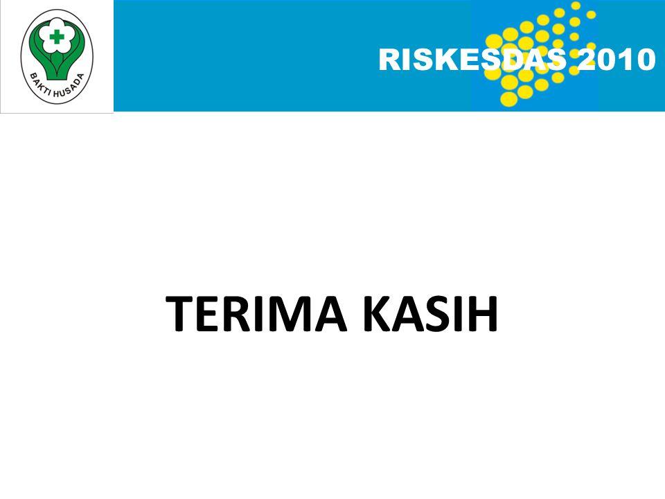 TERIMA KASIH RISKESDAS 2010