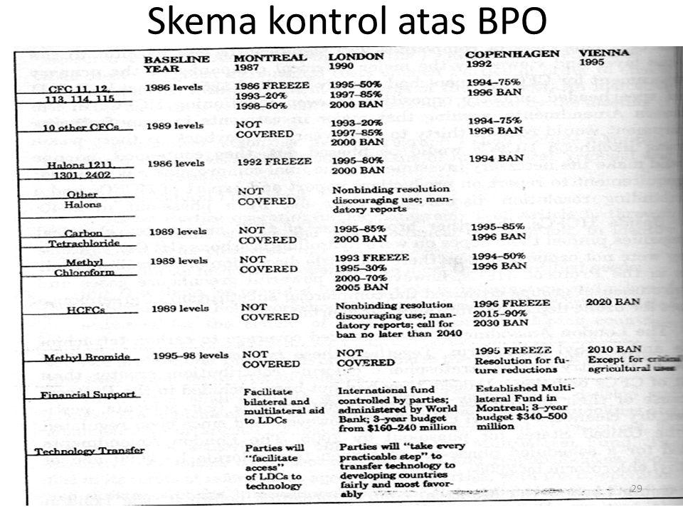 Skema kontrol atas BPO 29