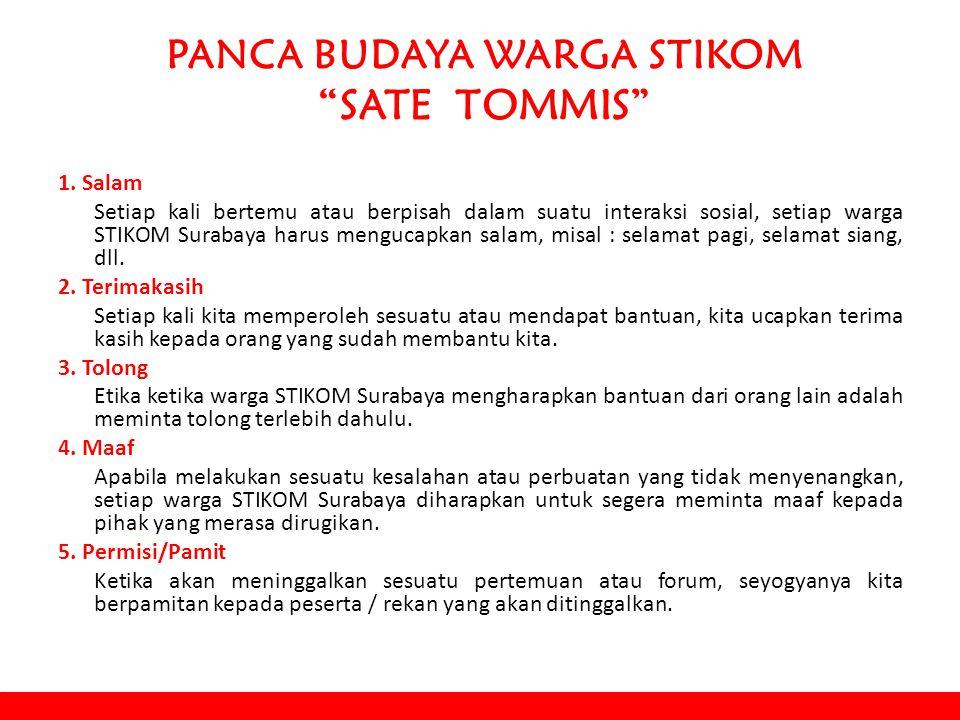PANCA BUDAYA WARGA STIKOM SATE TOMMIS 1.