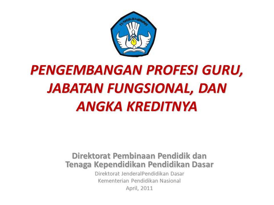 PEMBINAAN DAN PENGEMBANGAN PROFESI GURU GURU PROFESIONAL 1.