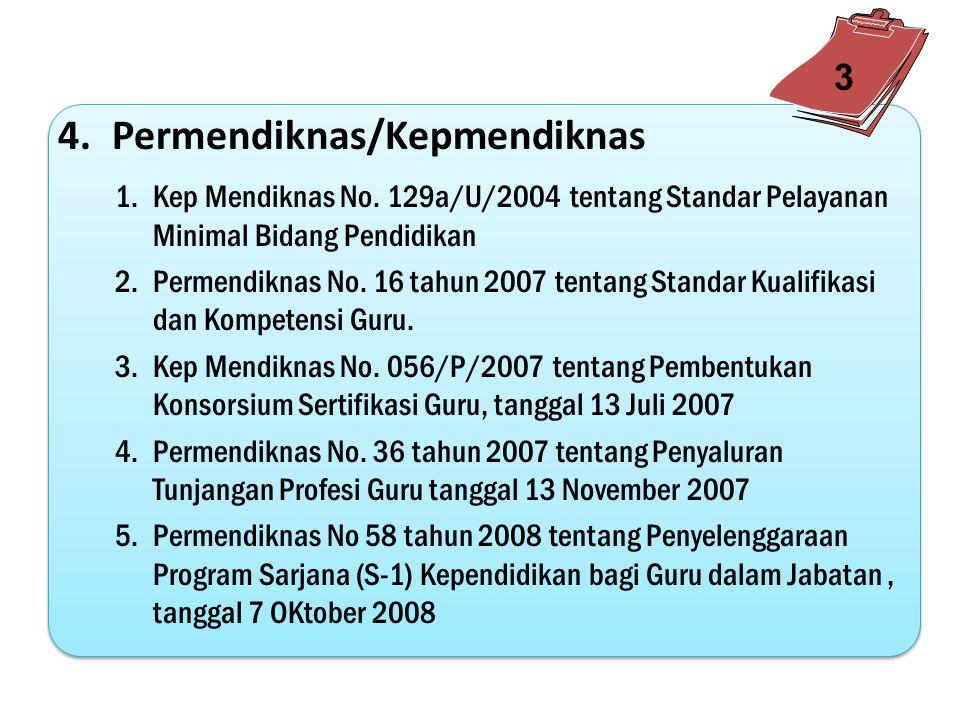 3.SKB Kementerian 1.Surat Edaran Bersama Sekretaris Jenderal Departemen Agama dan Direktur Jenderal PMPTK Nomor SJ/Dj.I/Kp.02/1569/2007 tanggal 7 Agustus 2007 2.Surat Keputusan Bersama (SKB) antara Mendiknas dan Ka.