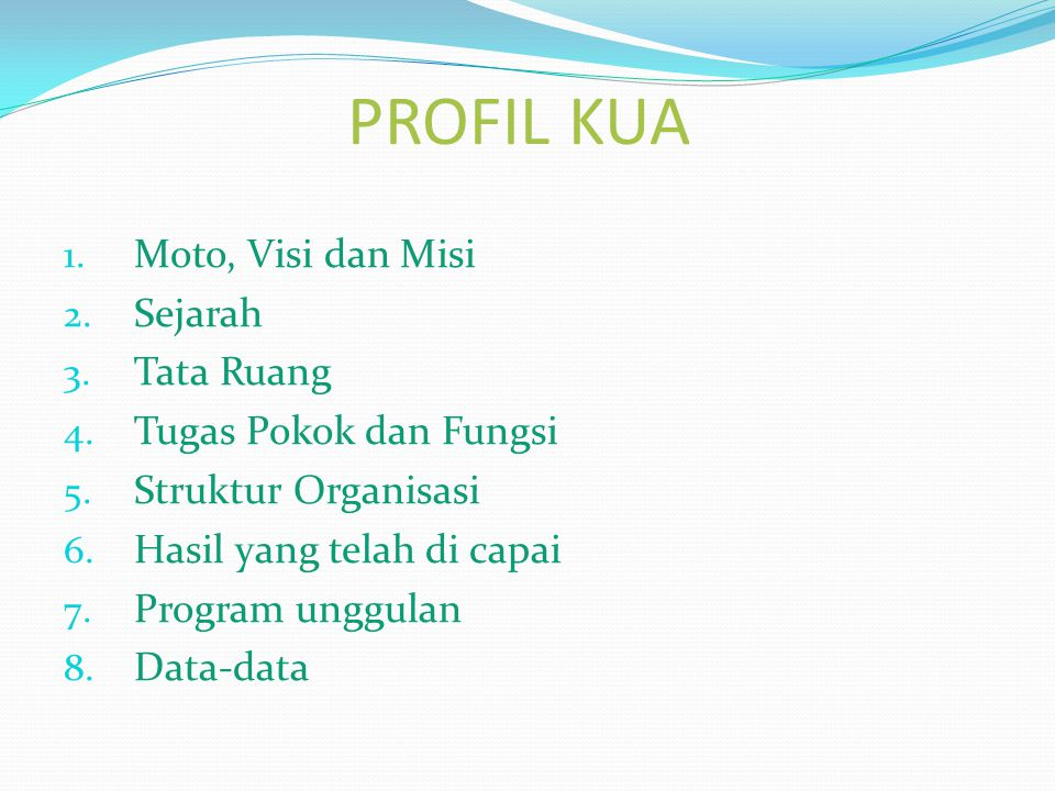 Peningkatan profesionalisme personil KUA Kecamatan Kosambi 1.