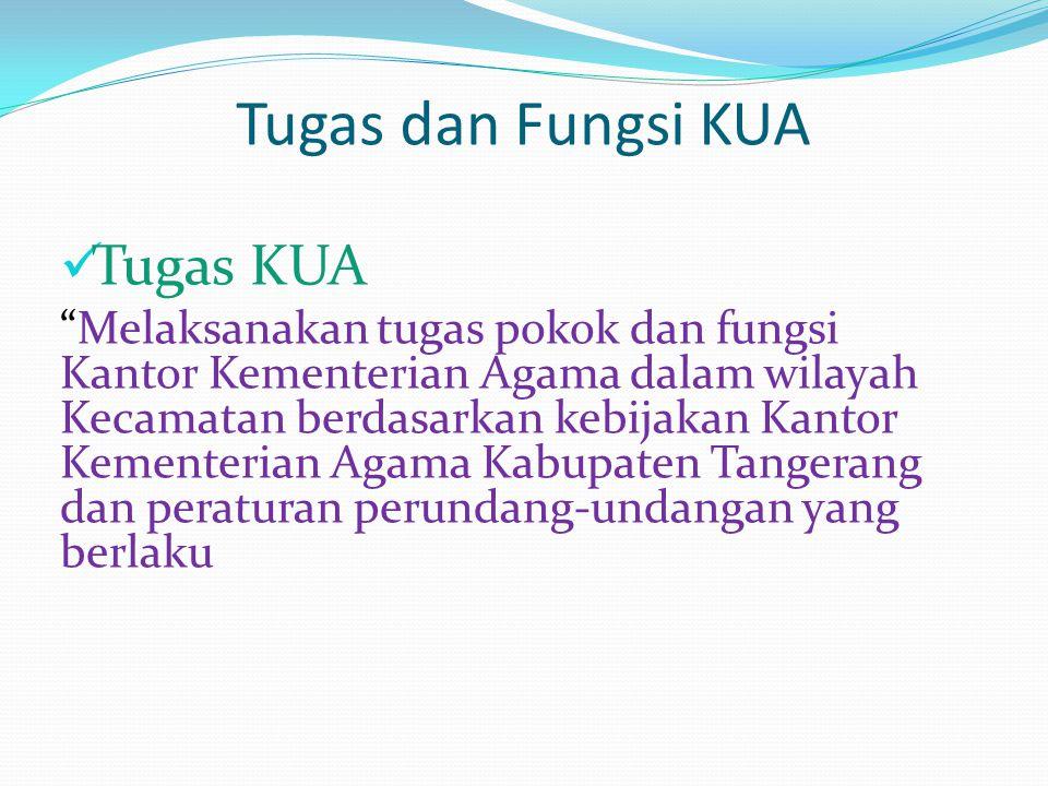 Struktur Organisasi KUA Kecamatan Kosambi Kepala Kaur TU Pengadmin NR Pengadmin BP4 & Kel.