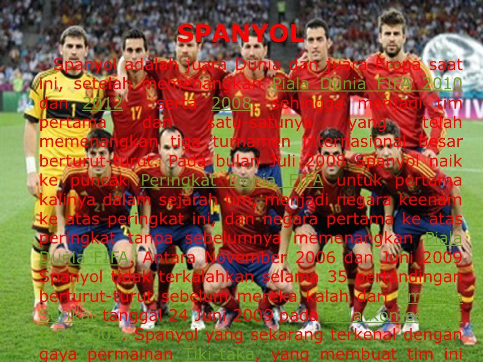 BELANDA (Tim Orange) BELANDA (Tim Orange) Nama-nama pemain bintang seperti Robin van Persie, Arjen Robben, Klaas Jan Huntelaar.