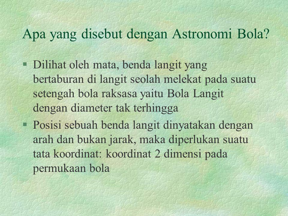 Apa yang disebut dengan Astronomi Bola.