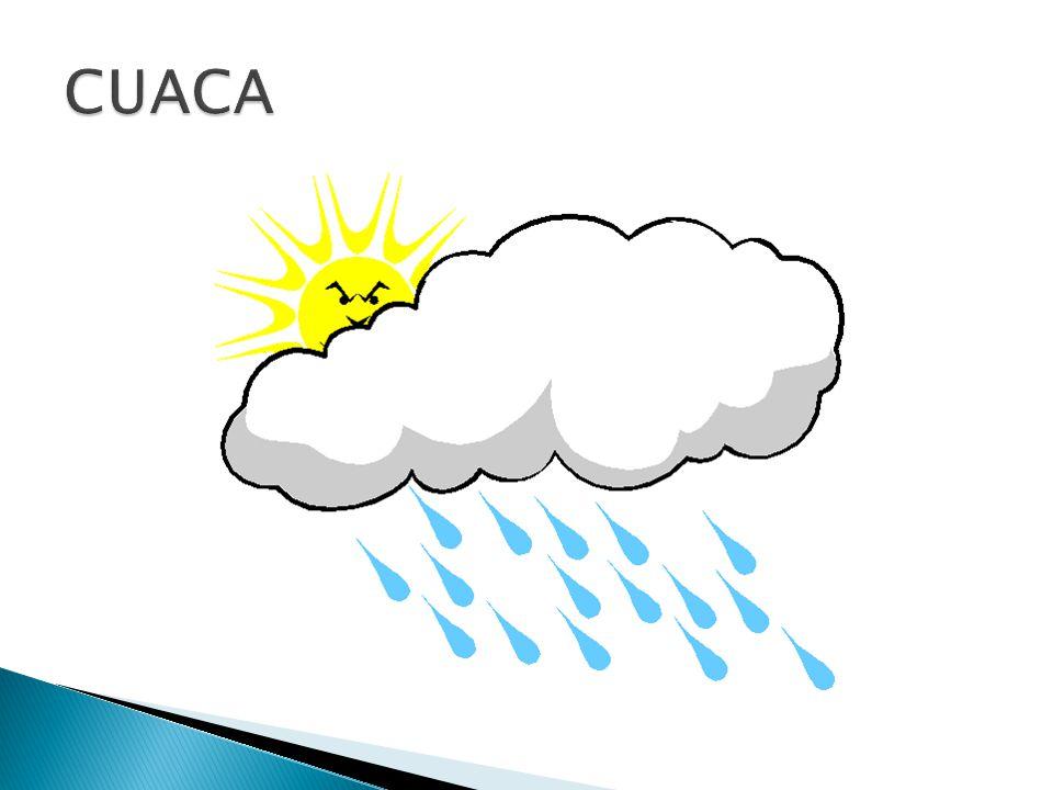  Keadaan udara yang terjadi di suatu tempat dalam waktu singkat, misalnya keadaan udara cerah, panas, dingin, dan hujan.