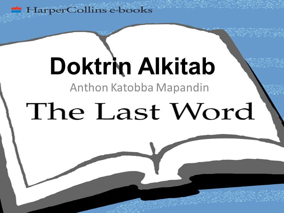 Anthon Katobba Mapandin Doktrin Alkitab