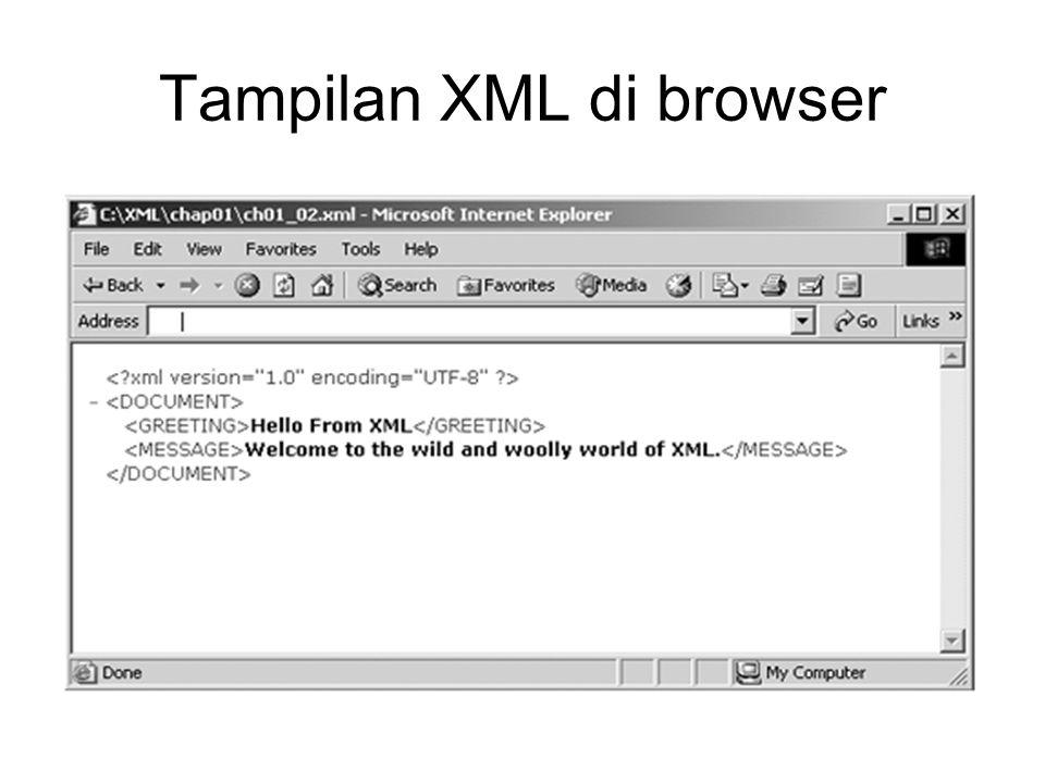 Tampilan XML di browser