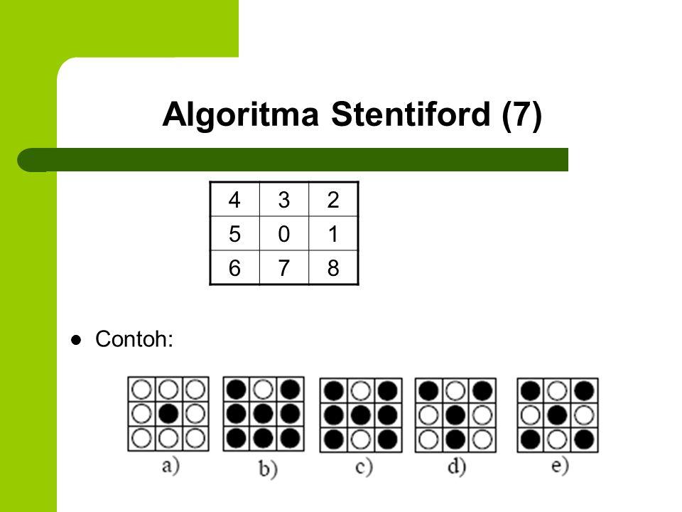 Algoritma Stentiford (7) 432 501 678 Contoh: