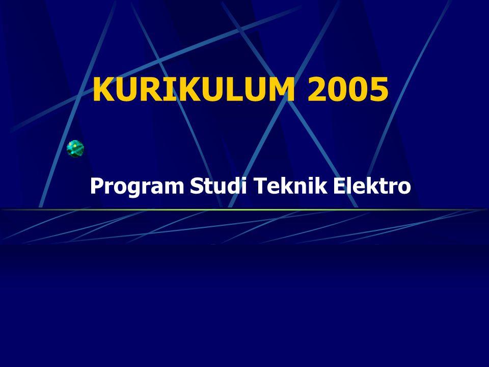 KURIKULUM 2005 Program Studi Teknik Elektro