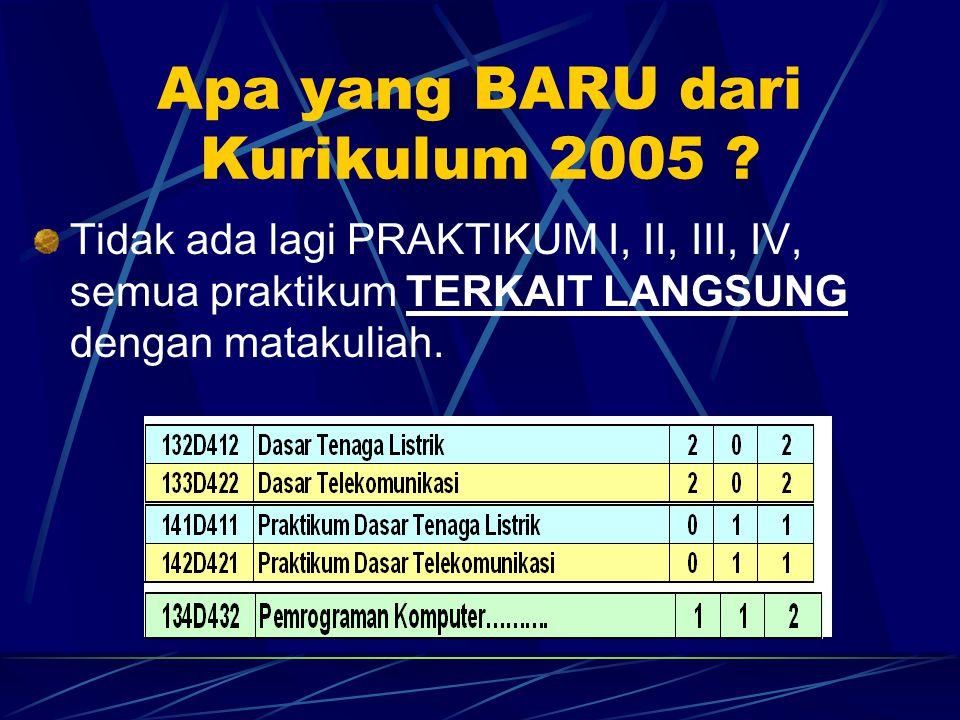 Apa yang BARU dari Kurikulum 2005 .