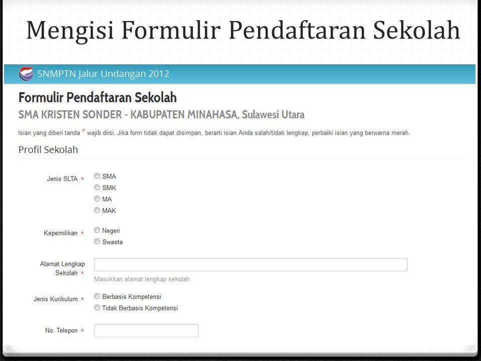 Mengisi Formulir Pendaftaran Sekolah