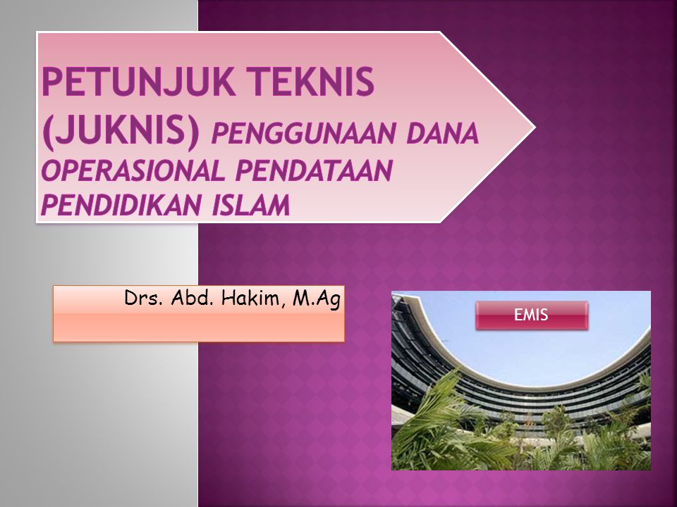 Drs. Abd. Hakim, M.Ag EMIS