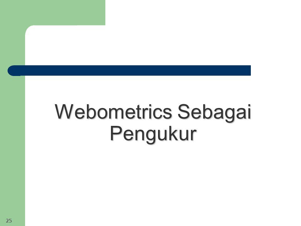 Webometrics Sebagai Pengukur 25