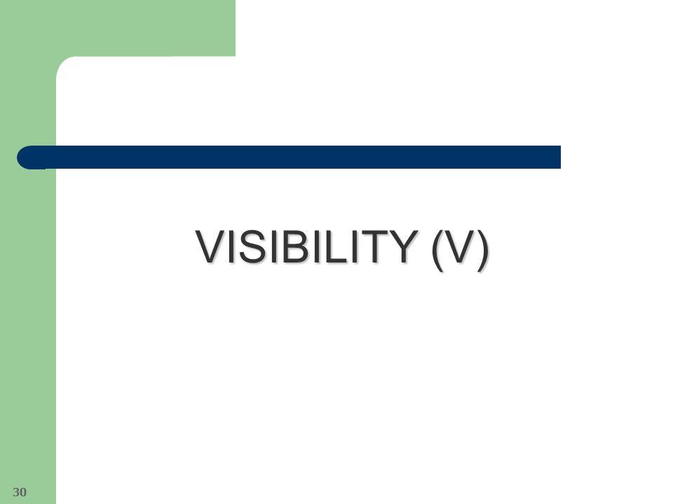 VISIBILITY (V) 30