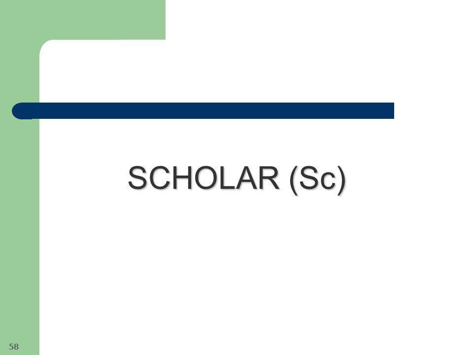 SCHOLAR (Sc) 58