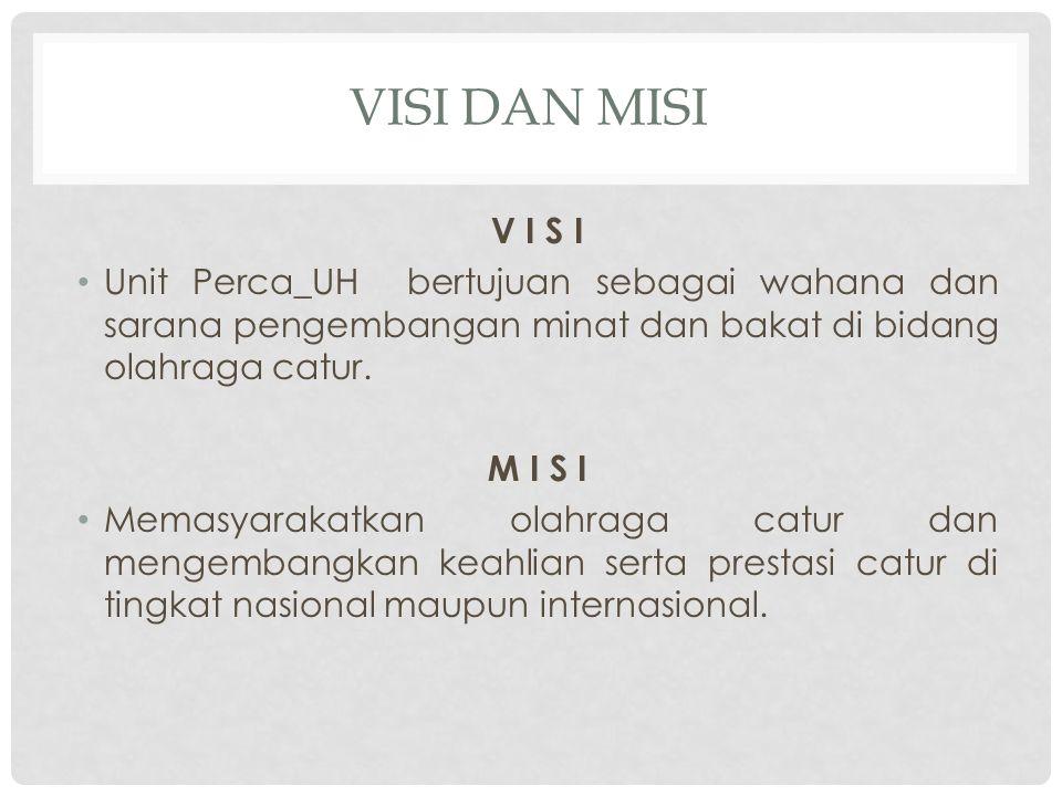 Susunan Pengurus Unit Perca_UH 2010/2011 Ketua: Masril Rizal Sekretaris: Dahlan Bahar Bendahara: Rismala Dewi Divisi-divisi Sekretariat : Rusli Dana dan Usaha : Muh.