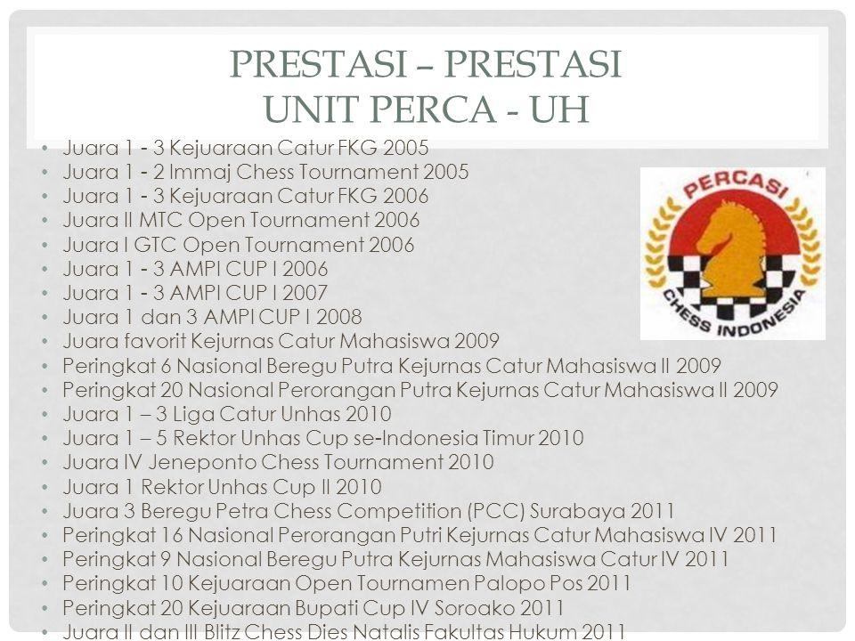 Juara 1 - 3 Kejuaraan Catur FKG 2005 Juara 1 - 2 Immaj Chess Tournament 2005 Juara 1 - 3 Kejuaraan Catur FKG 2006 Juara II MTC Open Tournament 2006 Ju