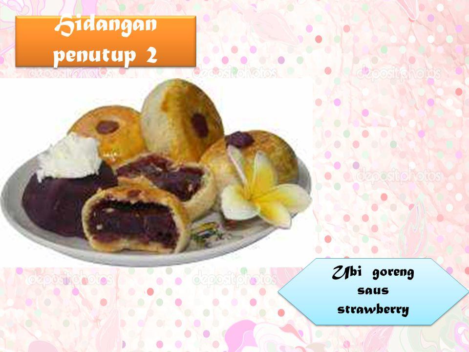 Hidangan penutup 2 Ubi goreng saus strawberry