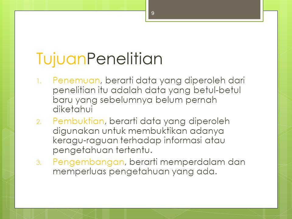 TujuanPenelitian 1.