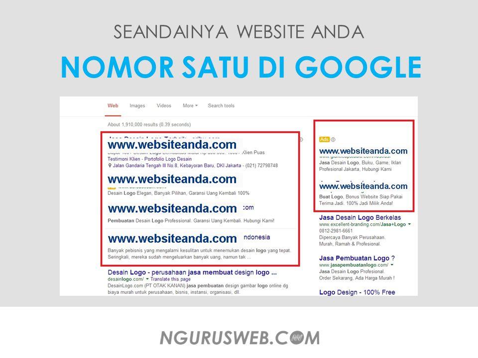 SEANDAINYA WEBSITE ANDA NOMOR SATU DI GOOGLE