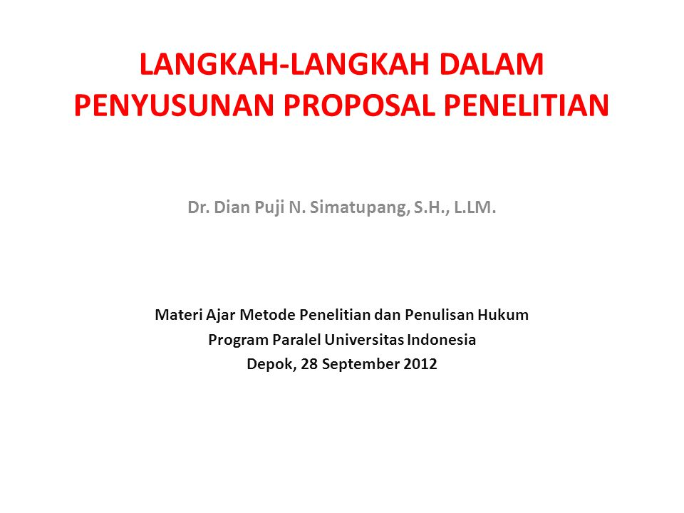 Sistematika Proposal Penelitian 1.1 PENDAHULUAN A.