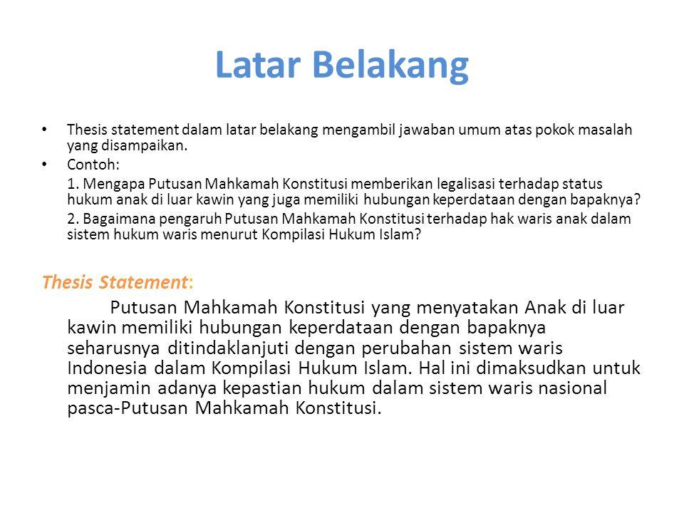 POKOK PERMASALAHAN DAN TUJUAN PENELITIAN B.Pokok Permasalahan 1.