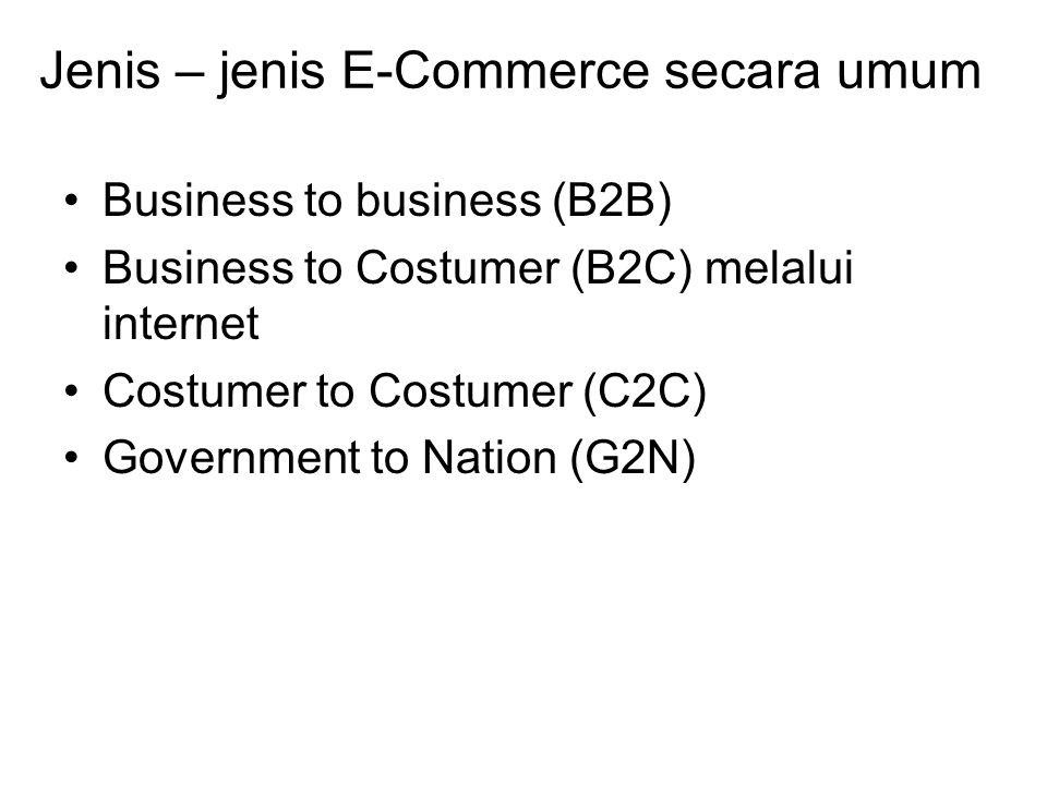 Jenis – jenis E-commerce a.