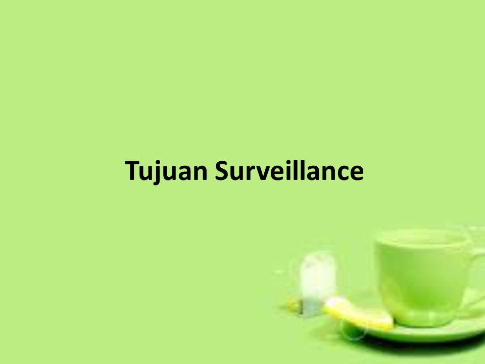 Tujuan Surveillance