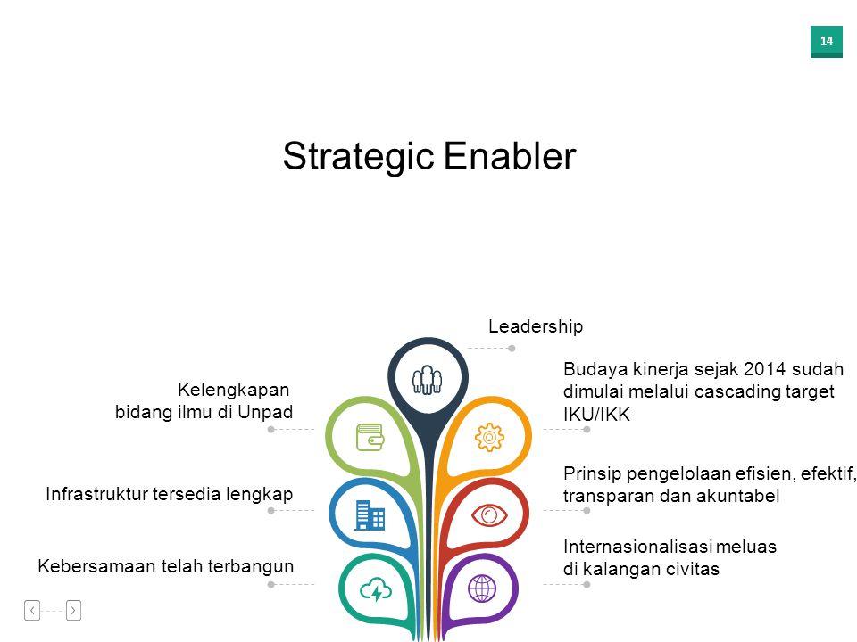13 Program Strategis Yang Sedang Berjalan Transisi PTN-BH Tahun 2015 proses penerbitan PP statuta Unpad PTN-BH dan persiapan implementasi. SDM Tahun 2