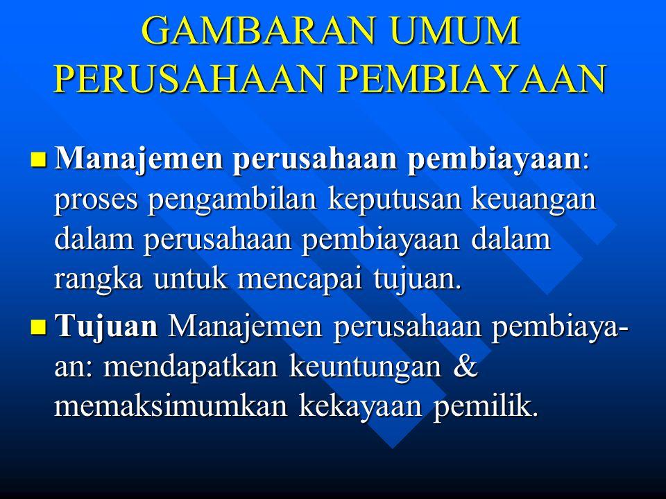 KLASIFIKASI PERUSAHAAN PEMBIAYAAN (8) 3.