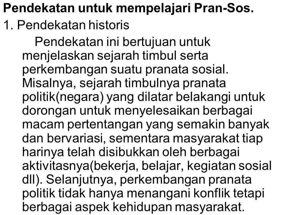 Pendekatan untuk mempelajari Pran-Sos.1.