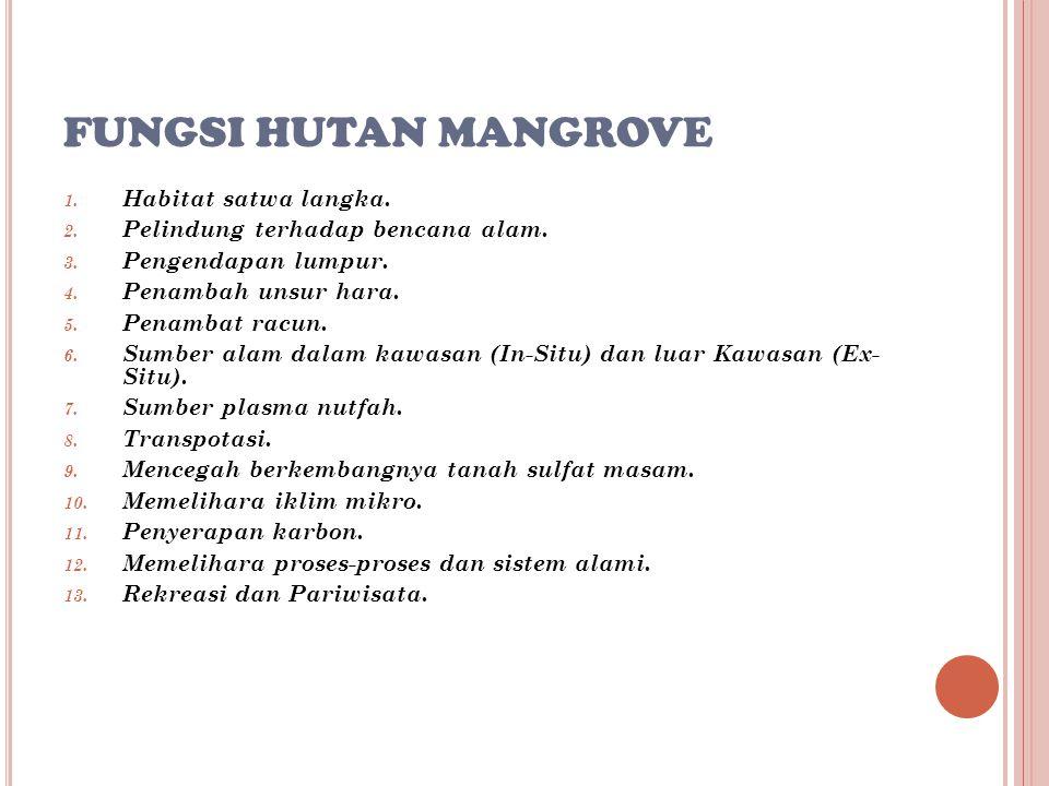 HUTAN MANGROVE DAN PERIKANAN 1.