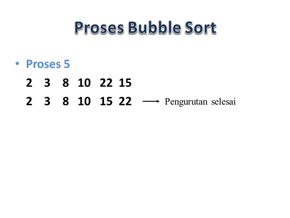 void bubble_sort() { for(int i=1;i<n;i++) { for(int j=n-1;j>=i;j--) { if(data[j]<data[j-1]) tukar(j,j-1); } Ini adalah Prosedure untuk ascending Jika descending maka tanda