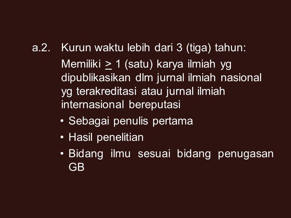 11 2. Persyaratan Publikasi Ilmiah a. Kenaikan Reguler a.1.