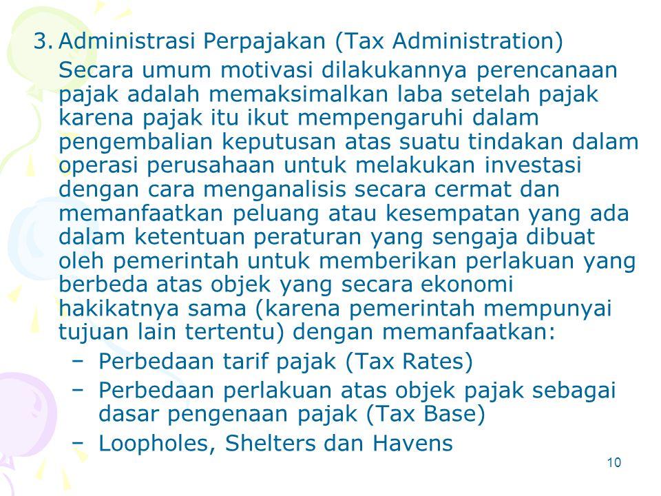 2.Undang-undang Perpajakan (Tax Law) Kita menyadari bahwa kenyataannya di manapun tidak ada undang-undang yang mengatur setiap permasalahan secara sem