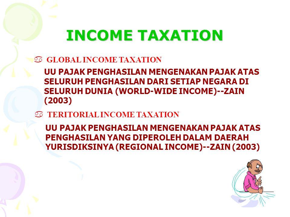 SISTIM PERPAJAKAN GLOBAL INCOME TAXATION TERITORIAL INCOME TAXES KEHIDUPAN SOSIAL, EKONOMI DAN KEBIJAKAN PUBLIK SISTIM PERPAJAKAN EQUITY CERTAINTY CON
