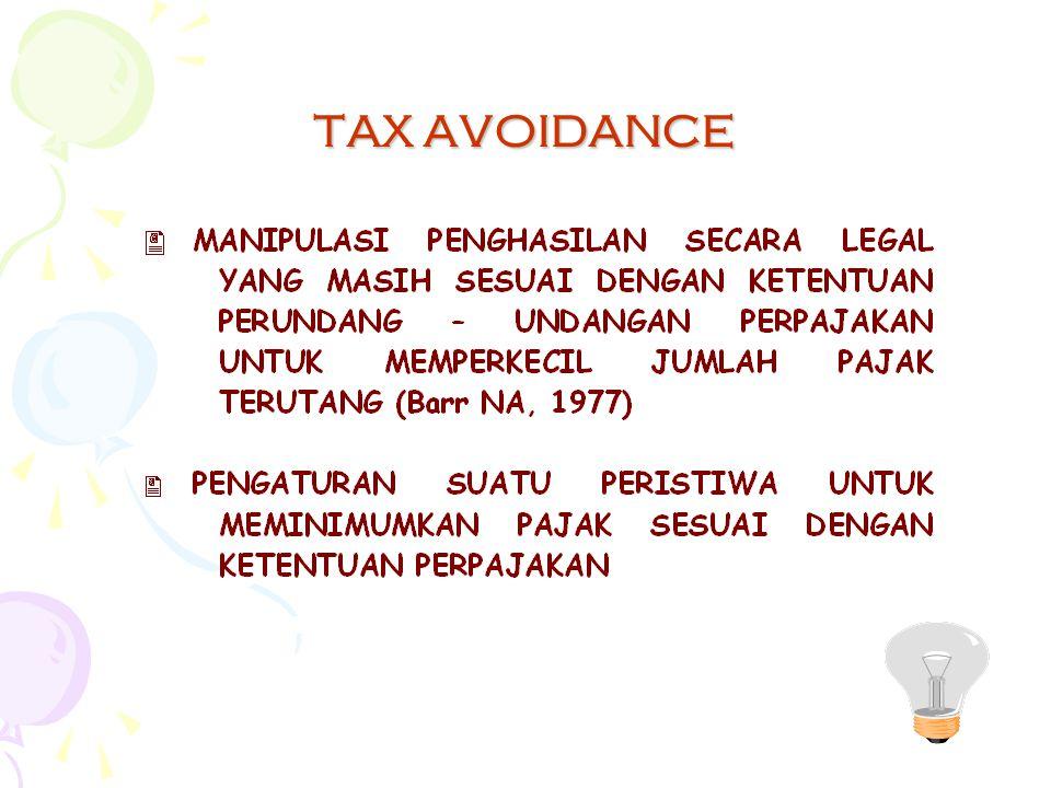 Strategy umum tax planning Tax saving Tax avoidance Menghindari pelanggaran terhadap peraturan perpajakan yang berlaku Penundaan pembayaran kewajiban